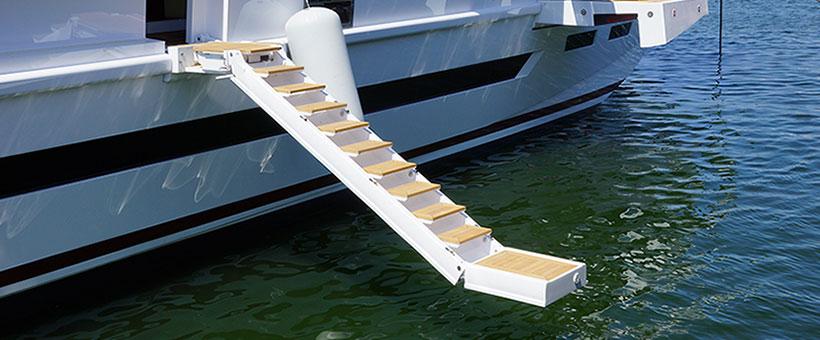 hydraulic boarding ladders