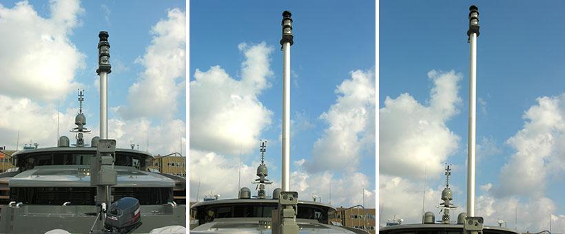 Detail of light mast