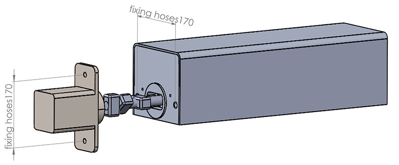 Technical design of pin lock for yacht
