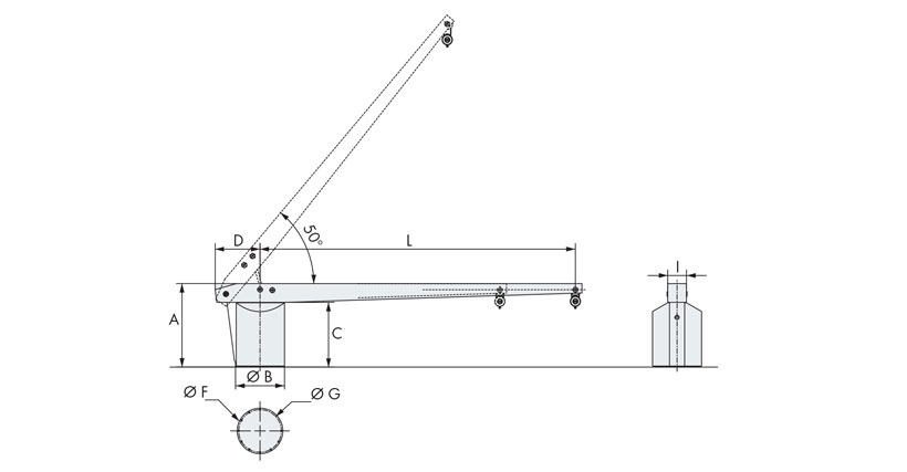 Technical design of boat davit crane 1000