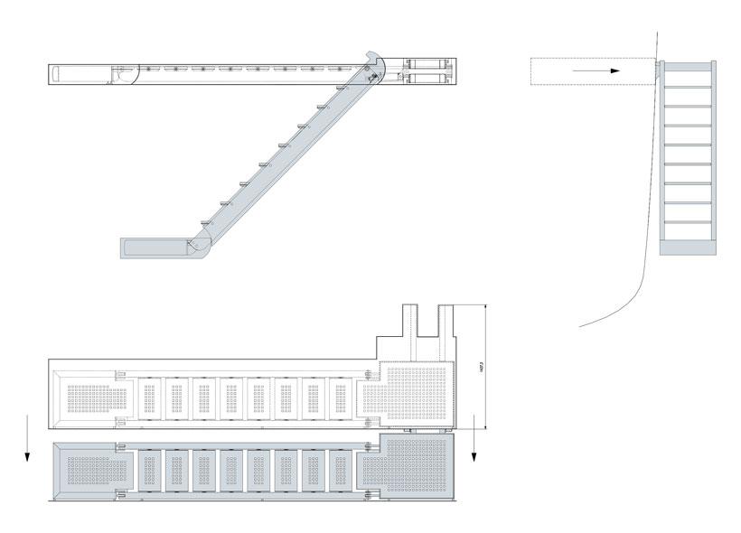 Technical design of sliding boarding ladders