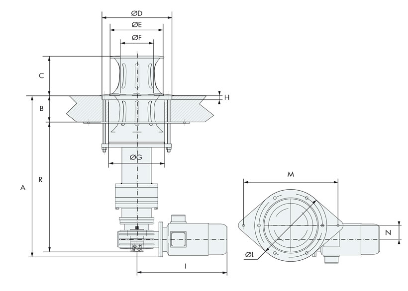 Technical design of stainless steel retractile capstans