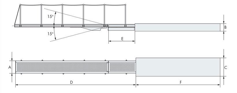 Retracting hydraulic gangway for yacht