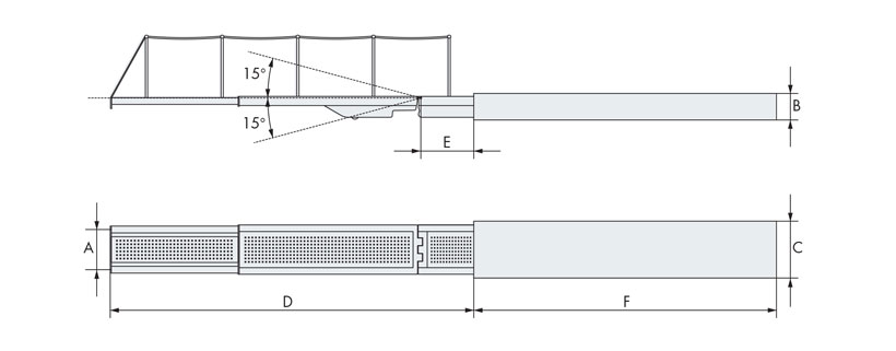 Technical design of retracting hydraulic gangway
