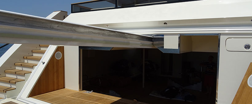 Sanguineti's sliding beam cranes