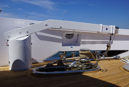 Yacht boarding equipments and cranes