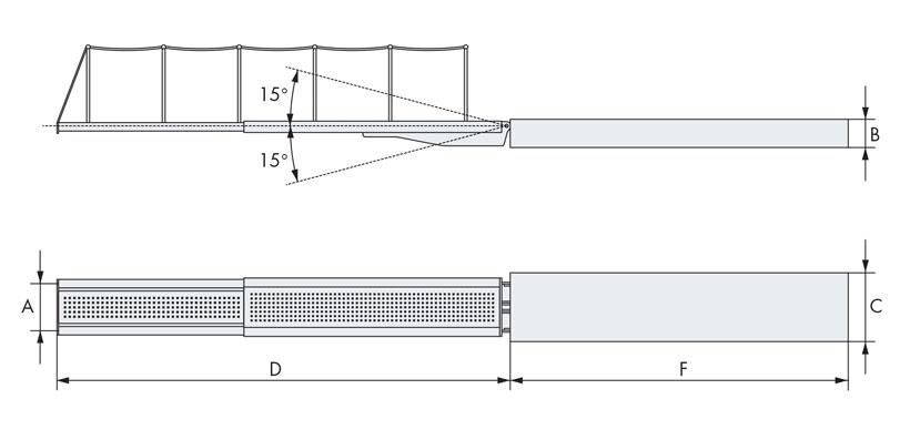 Disegno tecnico passerella nautica due elementi