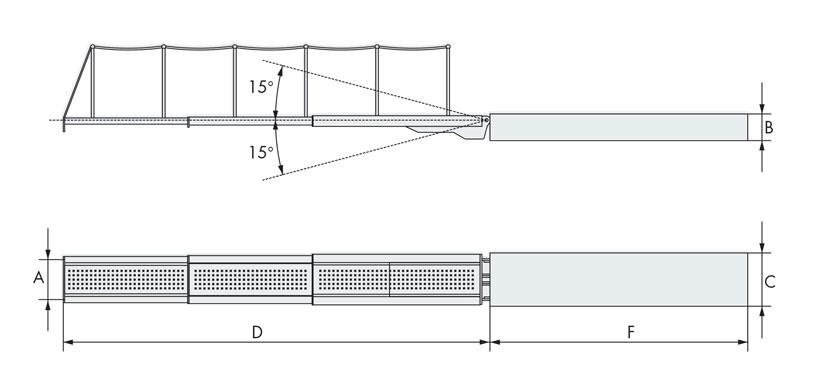 Disegno tecnico passerella nautica tre elementi