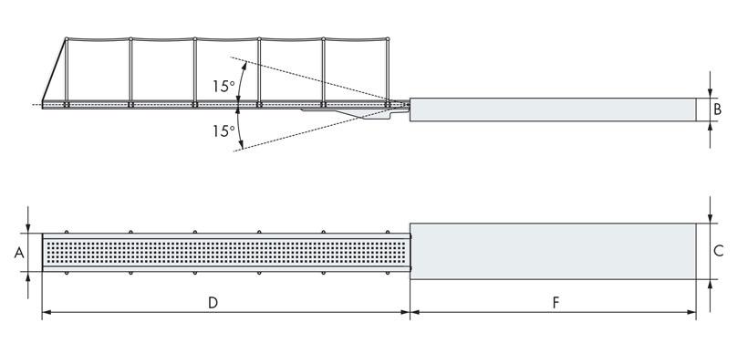 Disegno tecnico passerella nautica monoelemento