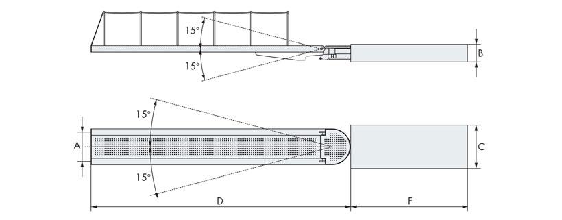 Disegno passerella idraulica monoelemento