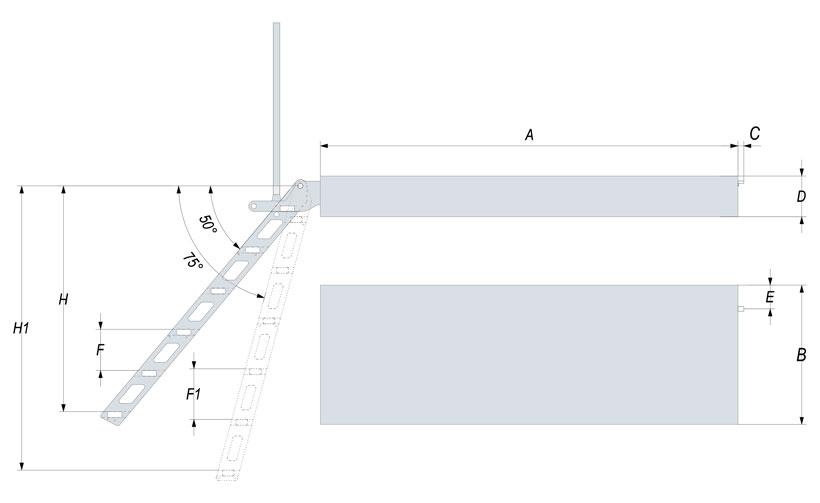 Disegno scalette per barche versione da bagno