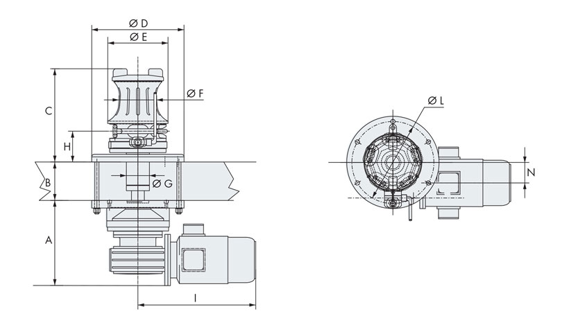 Disegno verricelli nautici 4000-3000 inox