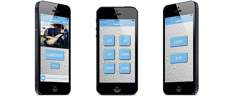 App per smartphone sostitutiva dei telecomandi per passerelle