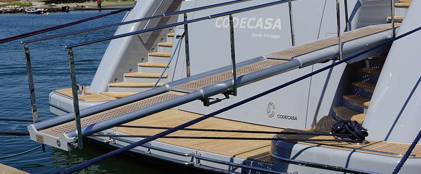 Passerella barca tre elementi