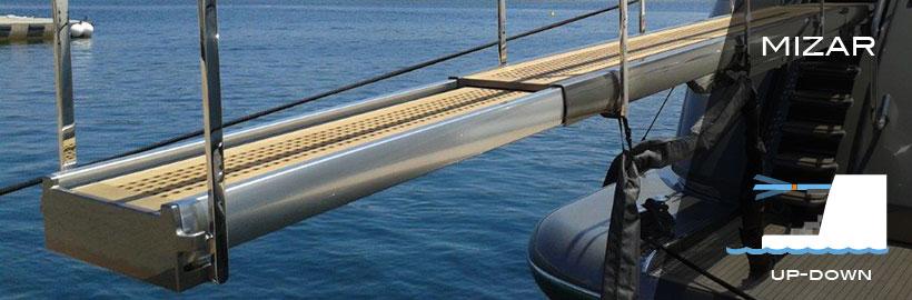 Passerelle nautiche Sanguineti Chiavari in lega leggera