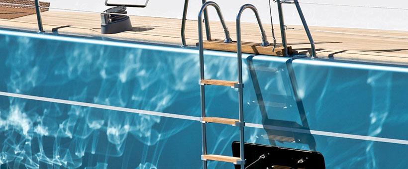 Scalette per barche con posizionamento manuale