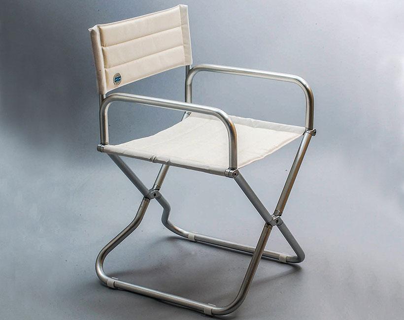 Sedia in alluminio Smeralda
