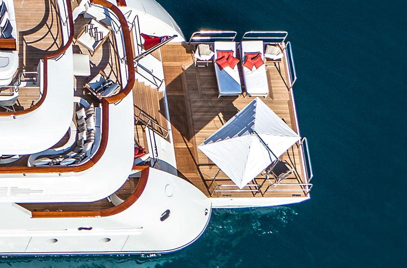 Spiaggette di poppa per yacht
