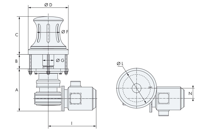 Technical design of fixed capstans