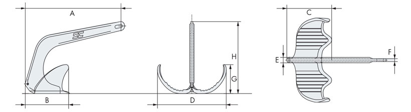 Technical design of yacht anchor