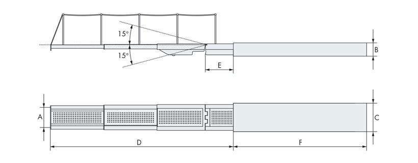 Technical design of retracting hydraulic gangway with three elements