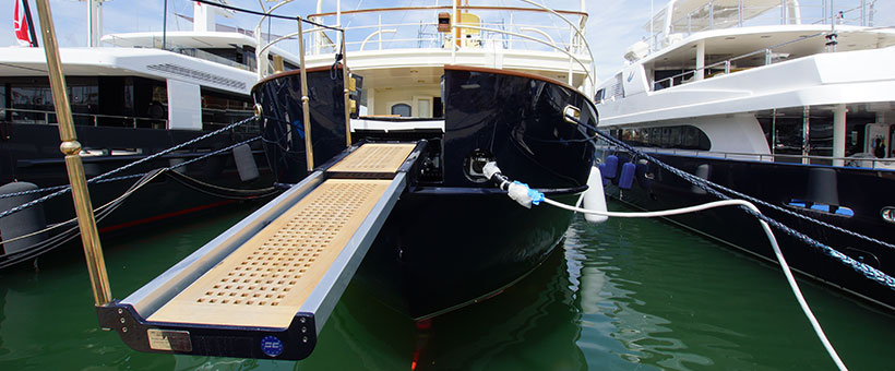 Gangway and custom systems for yachts