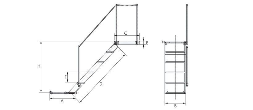Technical design of manual vintage boarding ladders