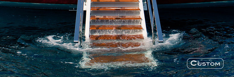 Multifunctional yacht ladder