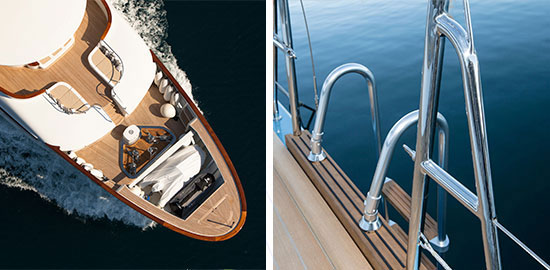 Sanguineti Chiavari equipments for yachts